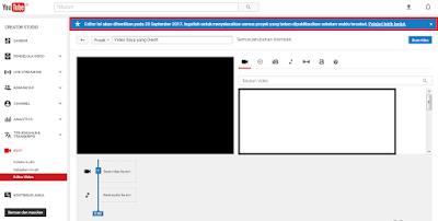 Fitur Video Editor dan Photo Slideshow pada YouTube dihilangkan