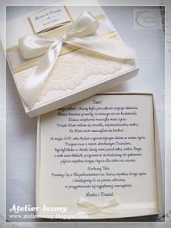 Atelier Iwony Kremowe Zaproszenia ślubne Dla Rodziców