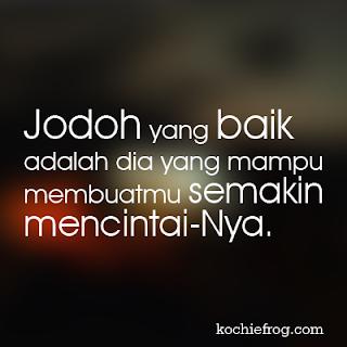 Gambar DP BBM Islami Romantis tentang Jodoh