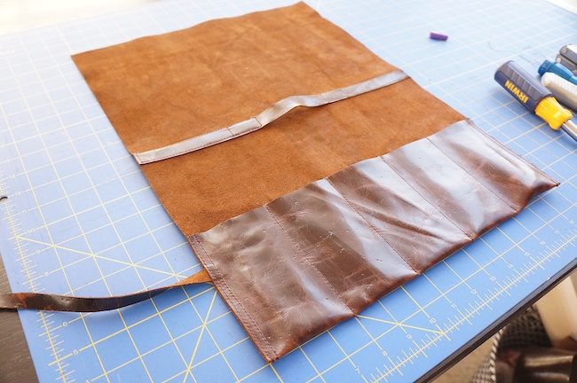 Leather Tool Roll Bag Tutorial