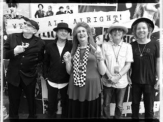 Robin Goldstein backstage with Cheap Trick at the Shoreline Amphitheater, September 2, 2017