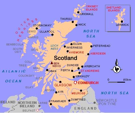 mapa da escocia História da Escócia   Amor pelos Livros mapa da escocia