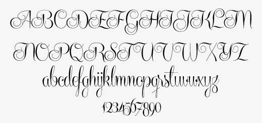 Centeria Script Font Preview