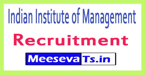 Indian Institute of Management Shillong IIM Shillong Recruitment