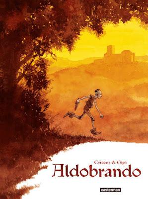 Aldobrando -  couverture de la BD des éditions Casterman