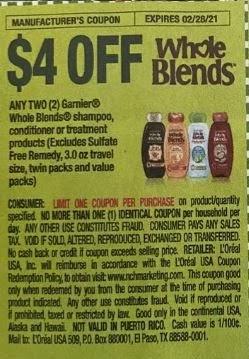 garnier whole blends coupon