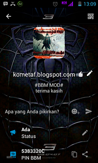BBM MOD v3.0.1.25: Spiderman Amazing APK Best for Smartphone