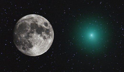 Un cometa tan grande como la luna sers visible.