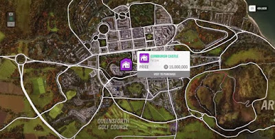 Forza Horizon 4, House Location Map, Edinburgh Castle