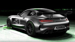Mercedes-AMG GT4 2017 (Rendering) Rear Side