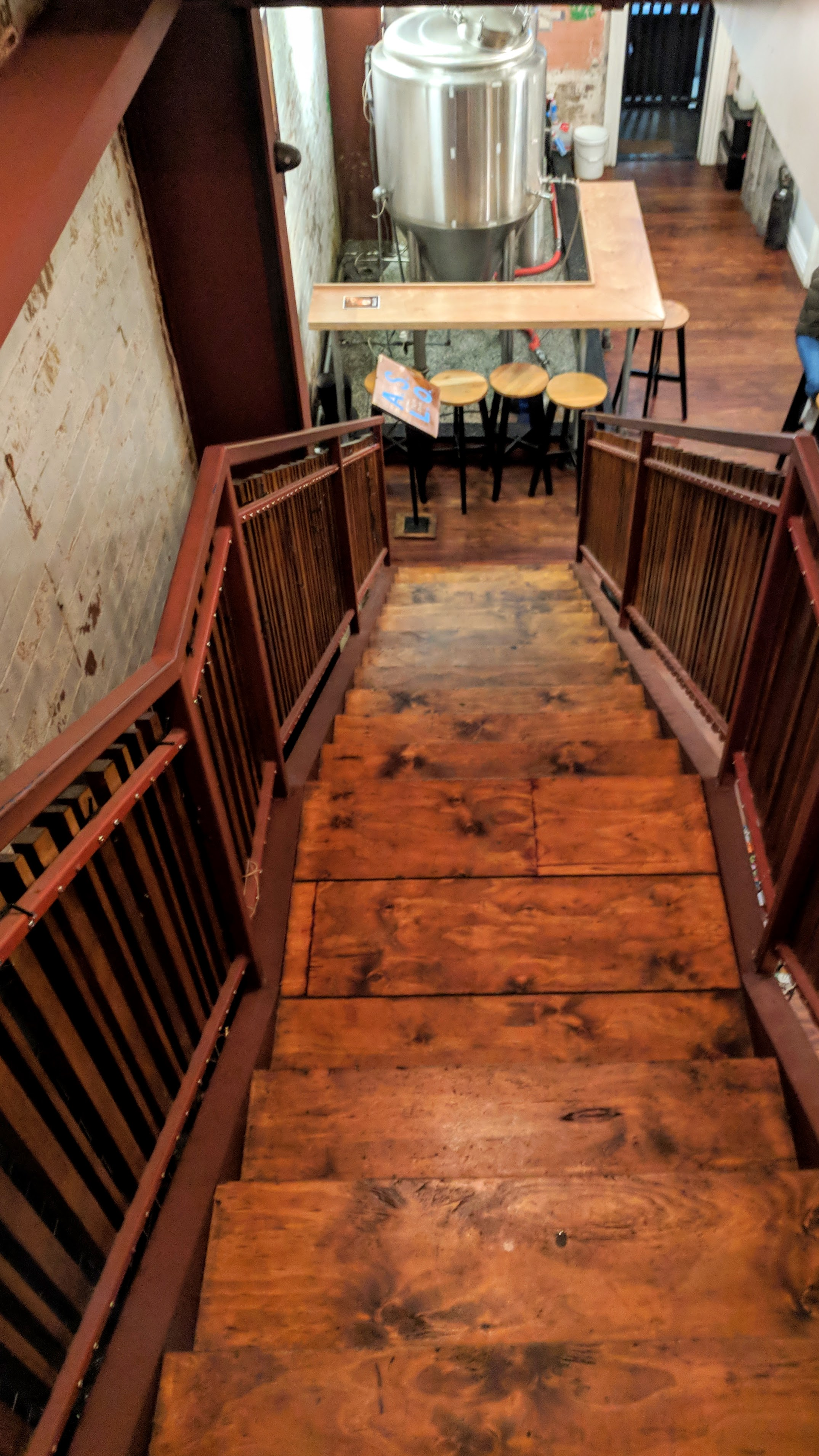 Old staircase in a pub