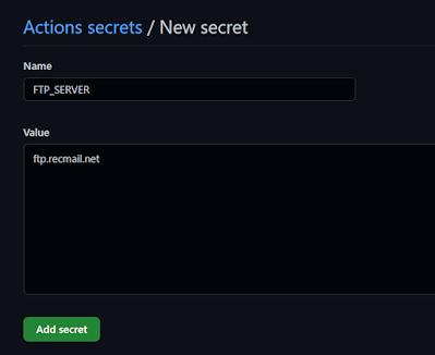 Add a repository secret
