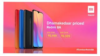 Redmi 8A Price in India, Specifications, Comparison, Review, हेलो दोस्तों Mi Shoppy आपको आज Mi Redmi 8A के बारे में थोड़ी जानकारी लेकर आया हे वैसे तो Mi Xiaomi कम्पनी ने अभी कुछ टाइम पहले अपनी Redmi Note 7 की सिरीज़ निकली थी जिसमें Note 7 Pro बहुत डिमांड में रहा पर इसका Redmi 7A ऐसा मोडल था जो Redmi 6A से बहुत कम चला हे इसी को देखते हुए कम्पनी ने Redmi 8A लॉंच किया हे