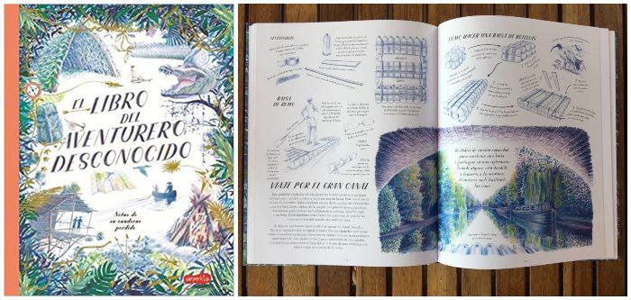 Libro infantil El libro del aventurero desconocido informativo