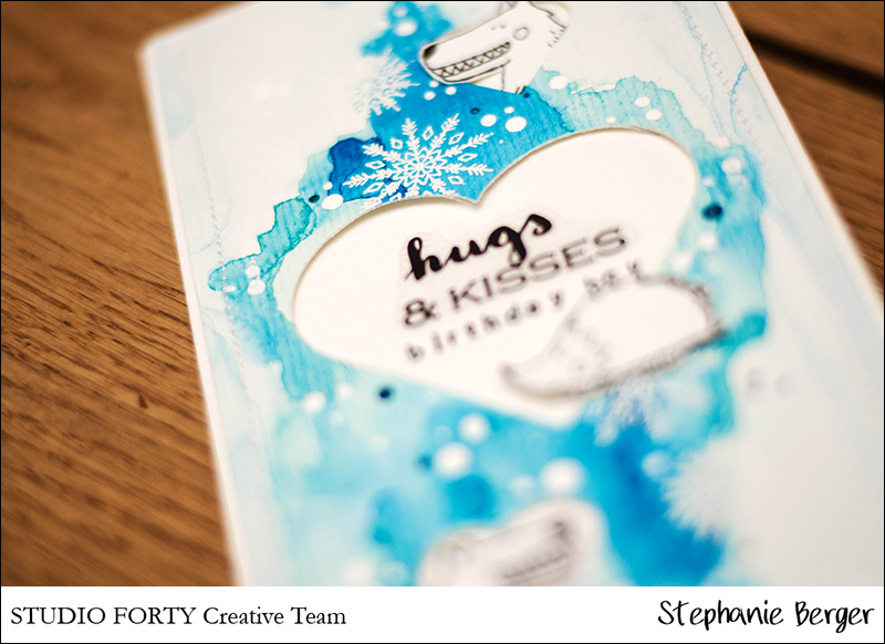 Stephanie Berger - Cardmaking - StudioForty - Birthday Winter Card