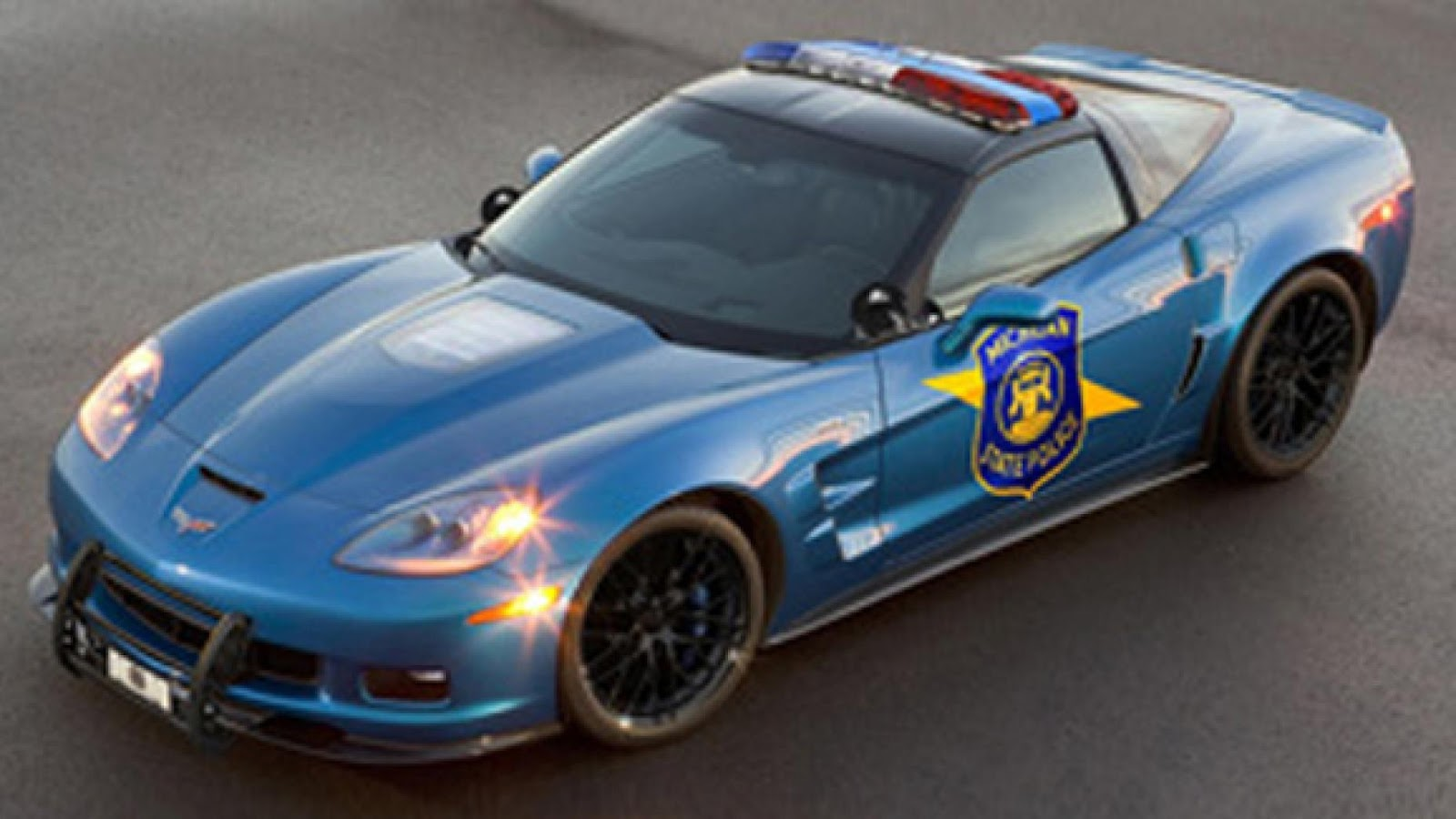 US police Chevrolet Corvette