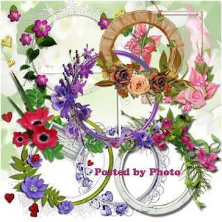 PNG recortes ovais com flores