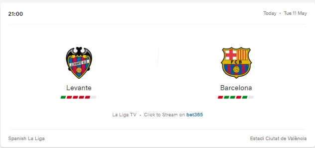 Levante vs Barcelona Livestream, Preview and Prediction