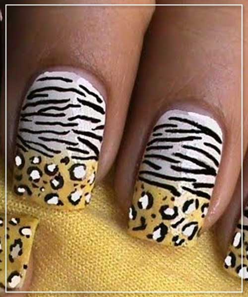 Leopard and Zebra Nail Designs