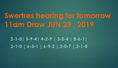 Swertres Hearing: Swertres hearing for tomorrow 11am Draw