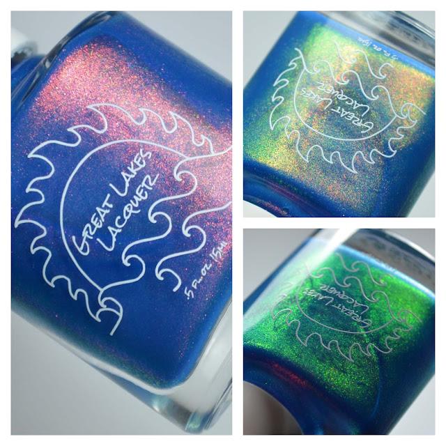ocean blue nail polish with aurora shimmer