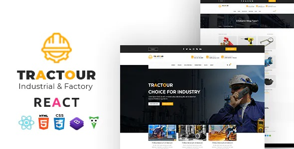 Best Industrial Manufacturing React JS Template