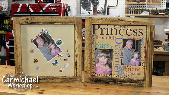 Half Lap Picture Frames by The Carmichael Workshop