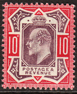 Edward VII 10d Slate Purple & Deep Carmine