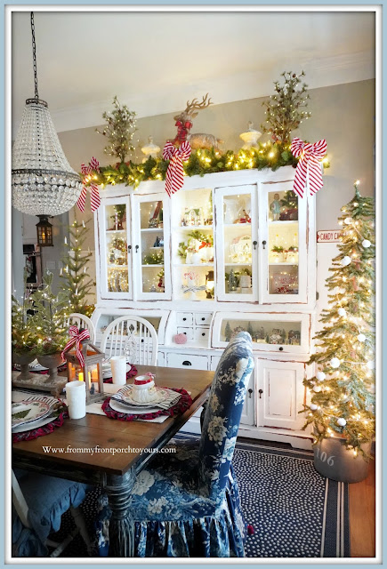 Cottage -Farmhouse- Christmas- Dining -Room -Dining -Cabinet-White--From My Front Porch To Yours