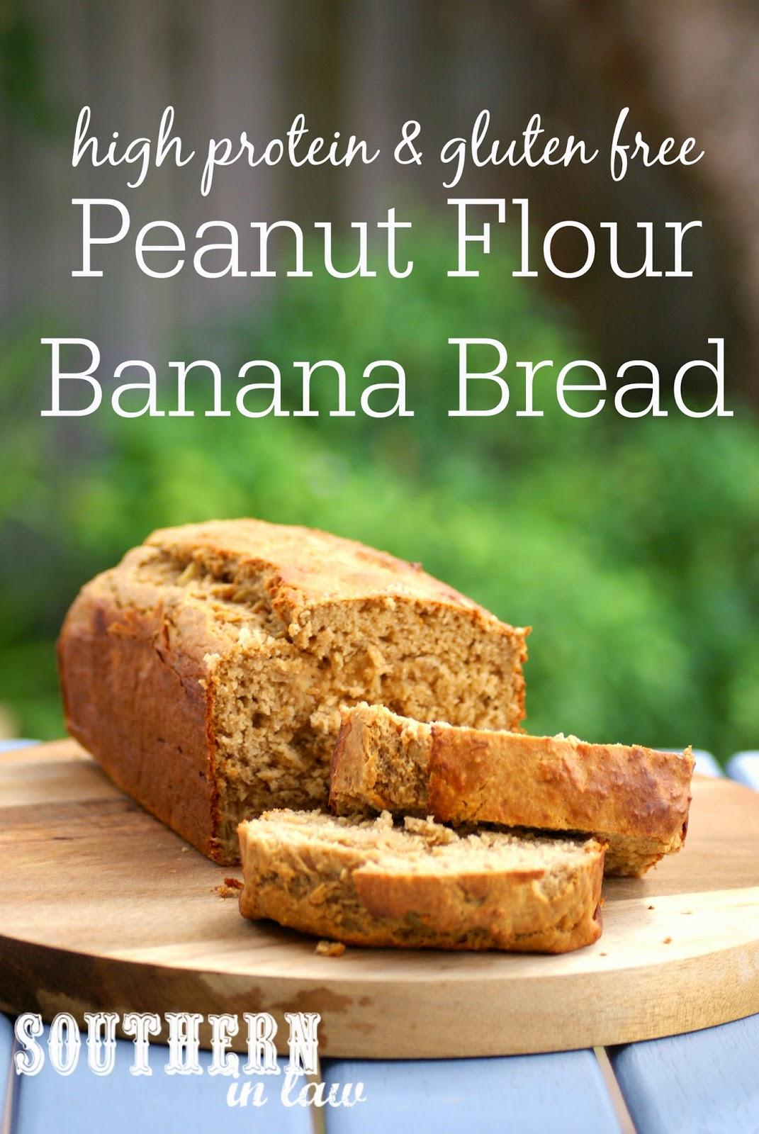 Healthy High Protein Peanut Flour Banana Bread Recipe - low fat, gluten free, healthy, high protein, sugar free, freezable recipe, freezer recipe