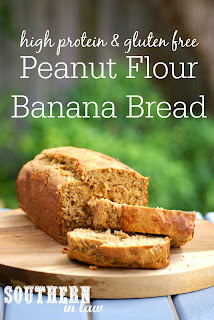 Healthy High Protein Peanut Flour Banana Bread Recipe