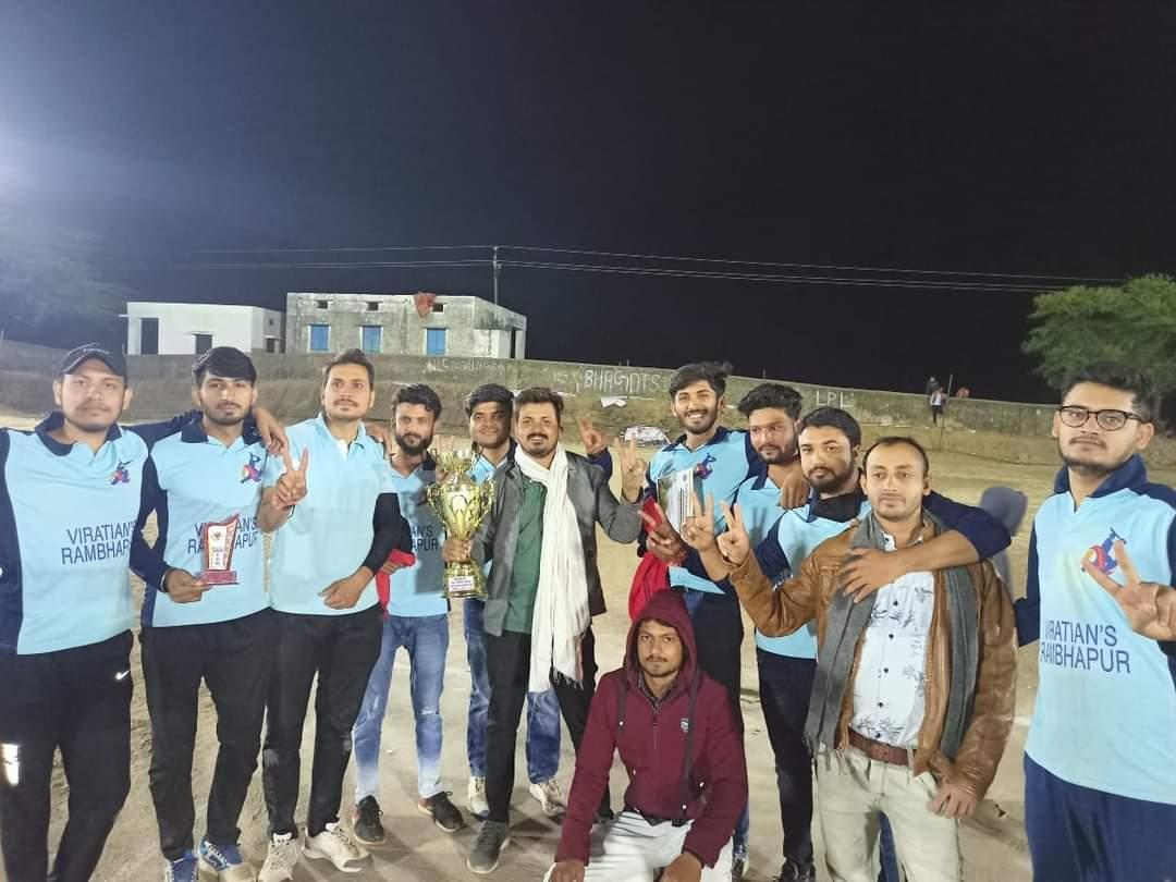 Jhabua News-  लबाना समाज क्रिकेट टूर्नामेंट के फाइनल में विराटीयन टीम रम्भापुर बनी विजेता