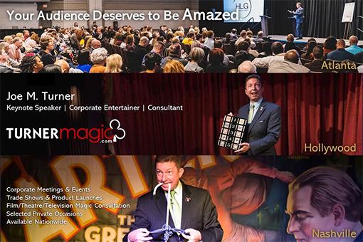 Joe M. Turner, Magician, Mentalist, Keynote Speaker