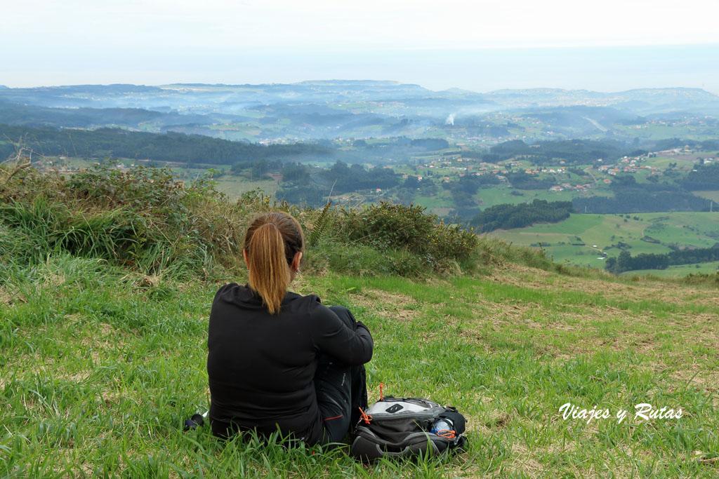 Descanso en el Pico Gorfolí (Avilés)
