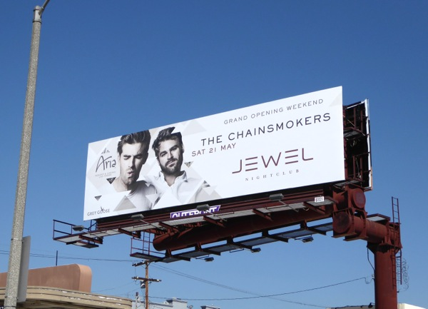Chainsmokers Jewel Nightclub Vegas billboard