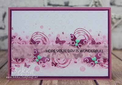 Have A Wonderful Day Card made using Stampin' Up! UK Supplies