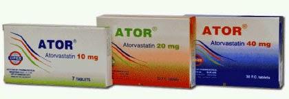 سعر عقار أتور Ator أقراص لعلاج زيادة فى نسبة الكوليسترول بالدم
