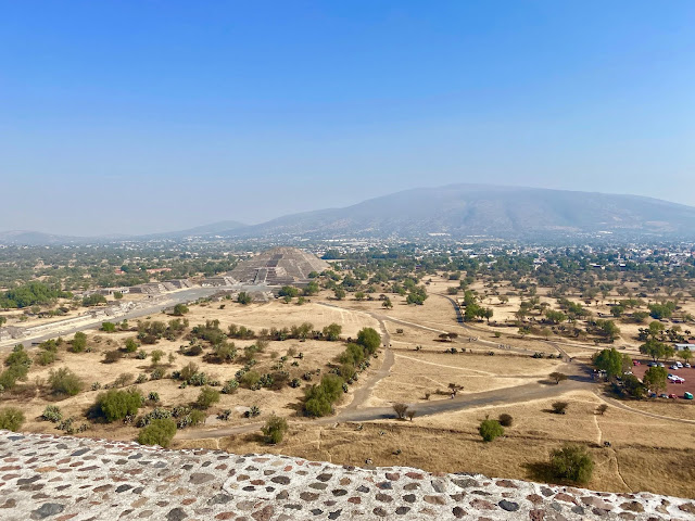 View from the Pyramid of the Sun, Teotihuacan, Mexico City, Mexico