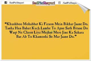very sad shayari english mein