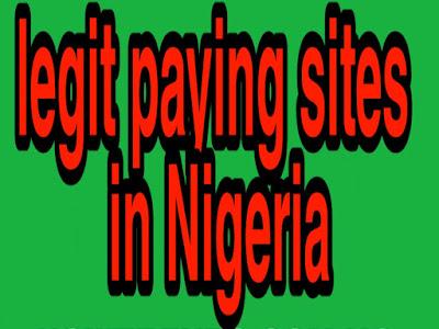 Legit paying sites in Nigeria