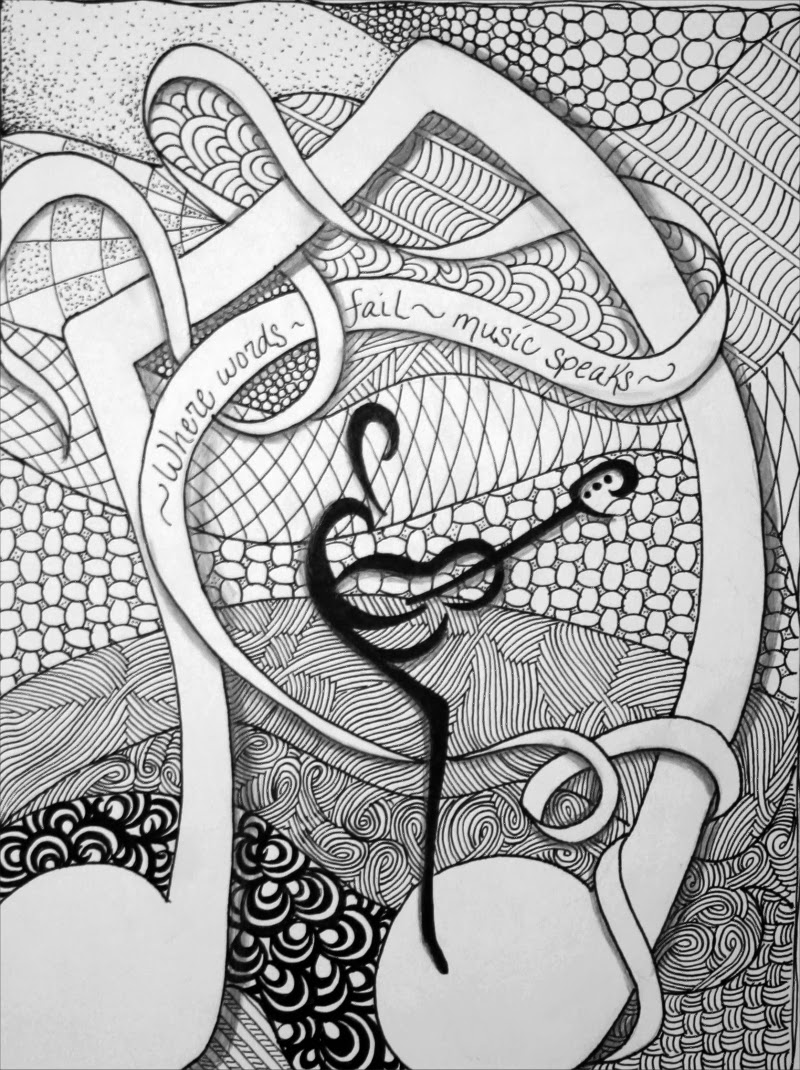Zentangle Expressions: Zentangle Music speaks