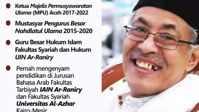Annalillahi, Mustasyar PBNU Asal Aceh Tengku H Muslim Ibrahim Tutup Usia