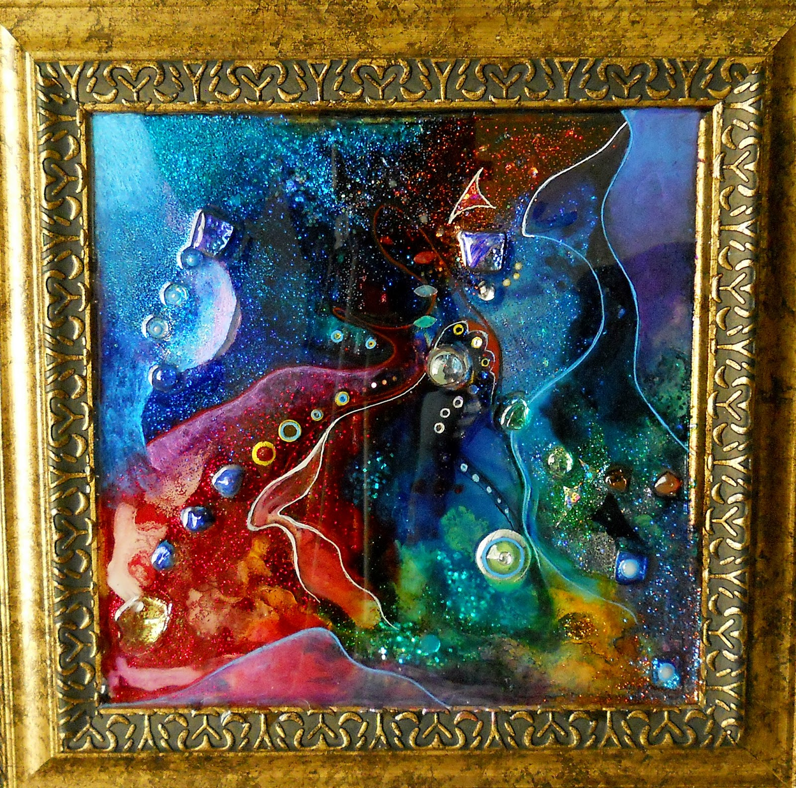 Image Result For Acrylic Paintings With Glitter