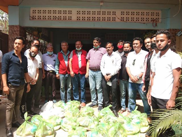Gorkha orgs distribute essential items in Dimapur