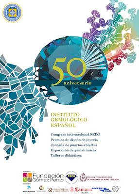 Cartel actividades del 50 aniversario del Instituto Gemológico Español