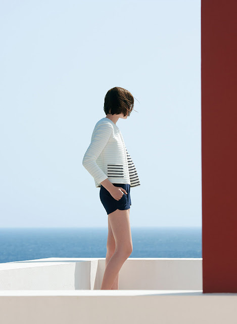 Petit Bateau padded tubic cotton stripe cardigan - womenswear sale