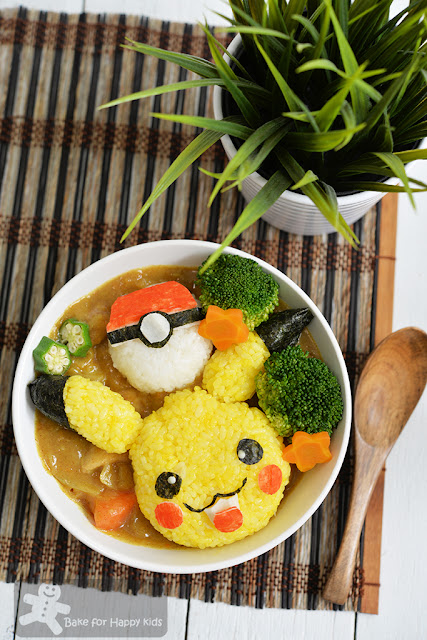 Pikachu Japanese curry rice