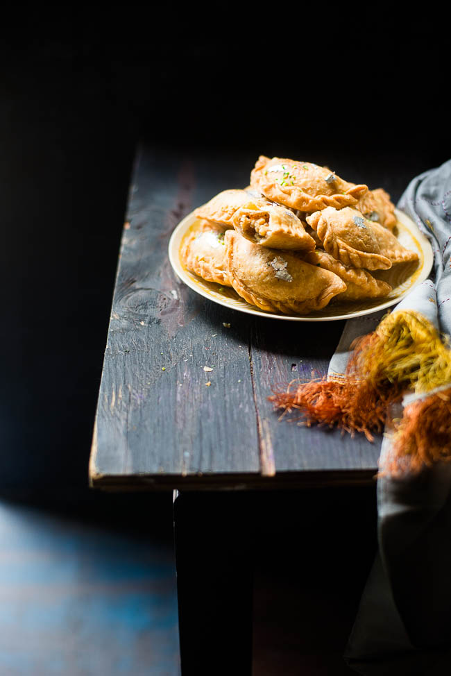Mix and Stir: Gujiya: Pastry filled with Khoya and Nuts