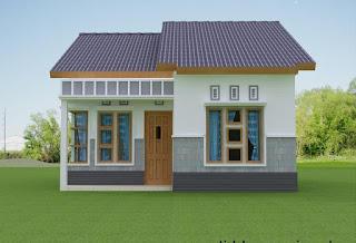 Desain rumah 6x12 Tampak Depan