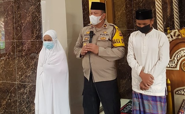 Wakapolres Tasikmalaya Laksanakan Giat Subuh Keliling di Pesantren   Miftahul Falah Sindangsono Kec.Cigalontang